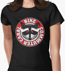 Bike Commuter Cabal Womens Fitted T-Shirt