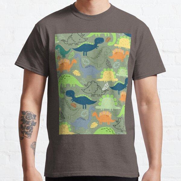 Dinosaurs jungle pattern Classic T-Shirt