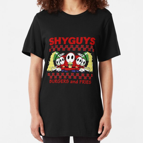 Shy Guys Burger And Fries Slim Fit T-Shirt