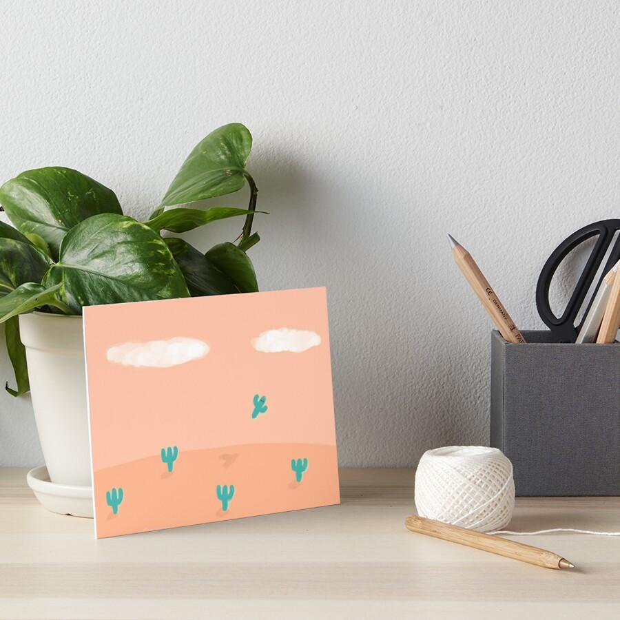 The Flying Cactus Art Board Print