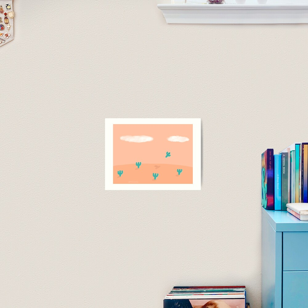 The Flying Cactus Art Print