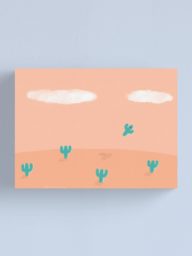 Alternate view of The Flying Cactus Canvas Print