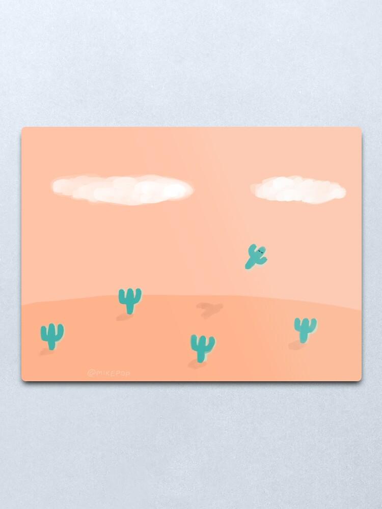 Alternate view of The Flying Cactus Metal Print