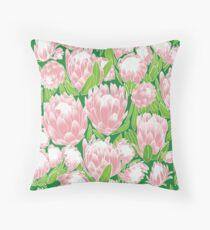 Pink Protea Throw Pillow