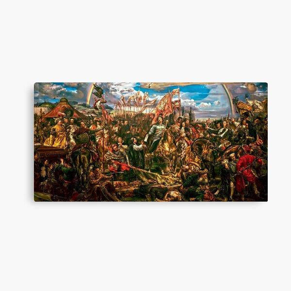 Jan Sobieski after battle of Vienna 1683 Canvas Print