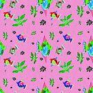 Pink fish pond by hdettman