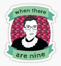 RBG wenn es neun gibt Sticker
