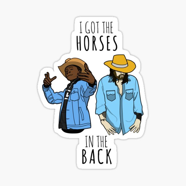 Old Town Road (I got the horses in the back) Combined Sticker