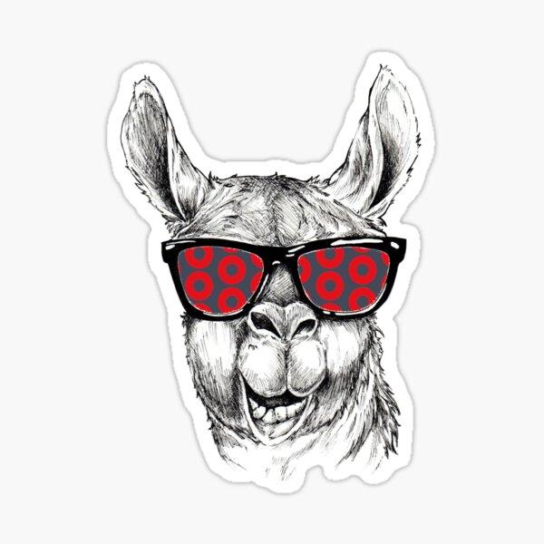 Llama Fresh Donut Sunglasses Sticker