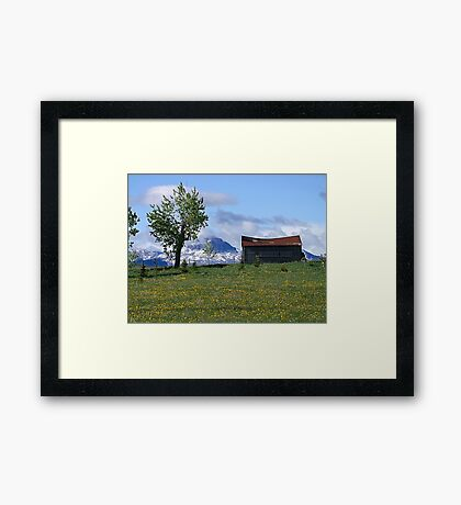Mountain View (1) Framed Print