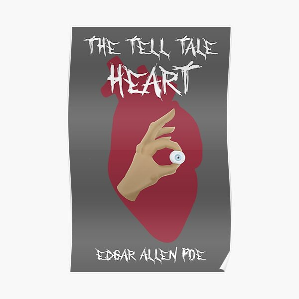 Tell Tale Heart with Text (transparent) Poster