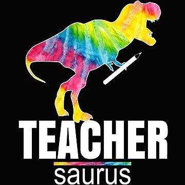 Teachersaurus Design Funny Cute Dinosaur Teacher School Gift by kimmicsts