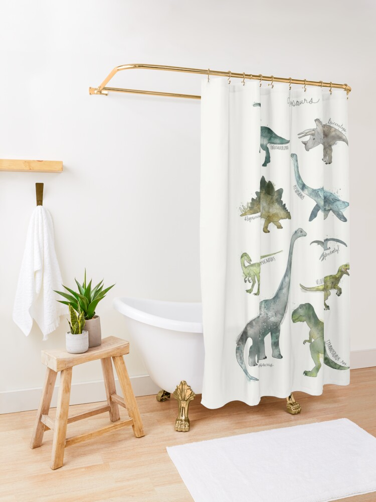 Alternate view of Dinosaurs Shower Curtain