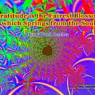 Gratitude is the Fairest Blossom by empowerwithart