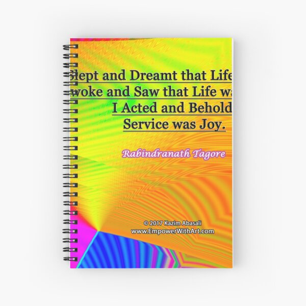 I Slept and Dreamt Spiral Notebook