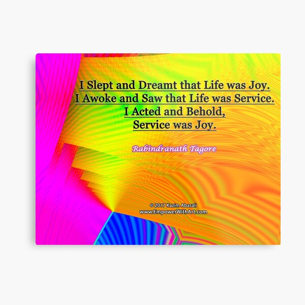 I Slept and Dreamt Metal Print