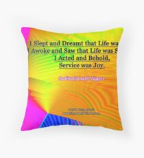 I Slept and Dreamt Throw Pillow