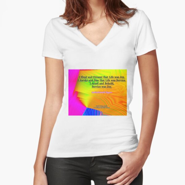I Slept and Dreamt Fitted V-Neck T-Shirt