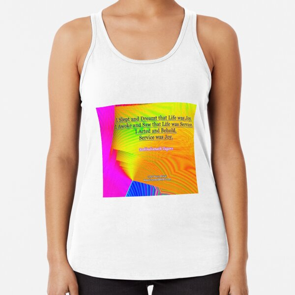 I Slept and Dreamt Racerback Tank Top