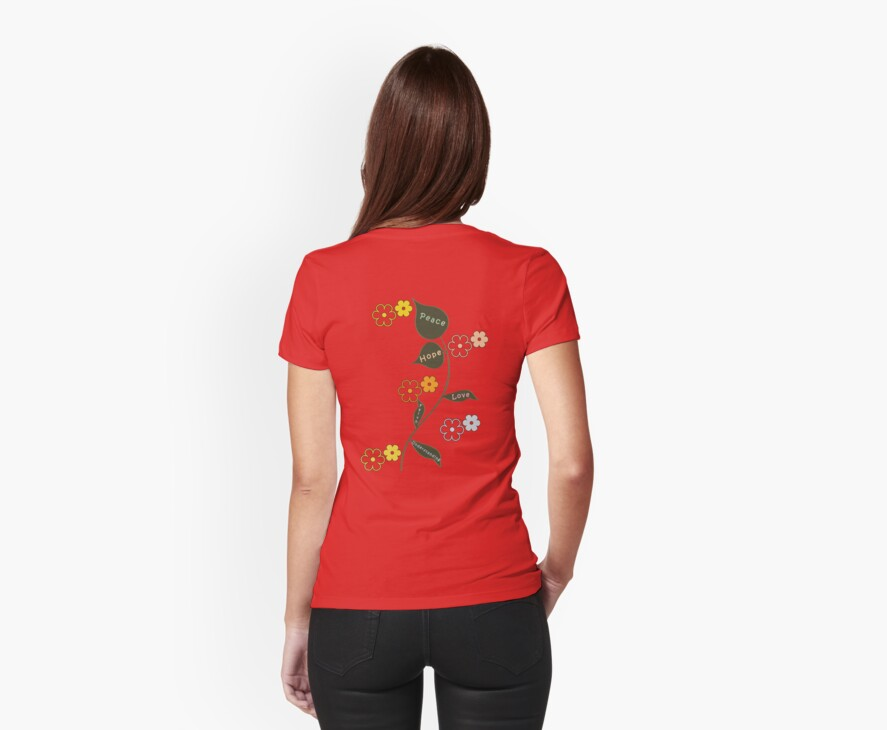 Peace, Love and Understanding T Shirt by simpsonvisuals