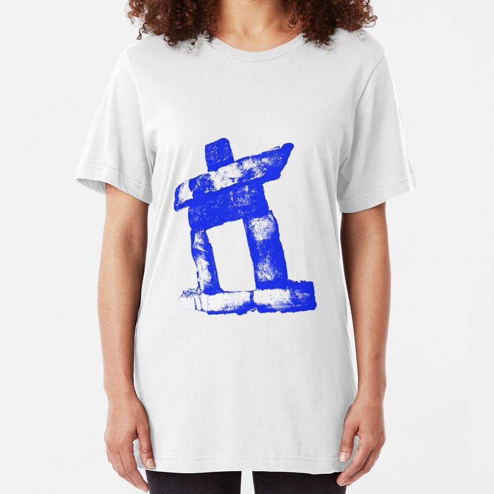 Canada rock man -BLUE- Slim Fit T-Shirt