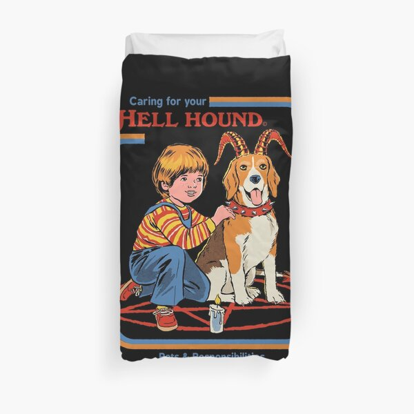 Caring For Your Hell Hound Duvet Cover