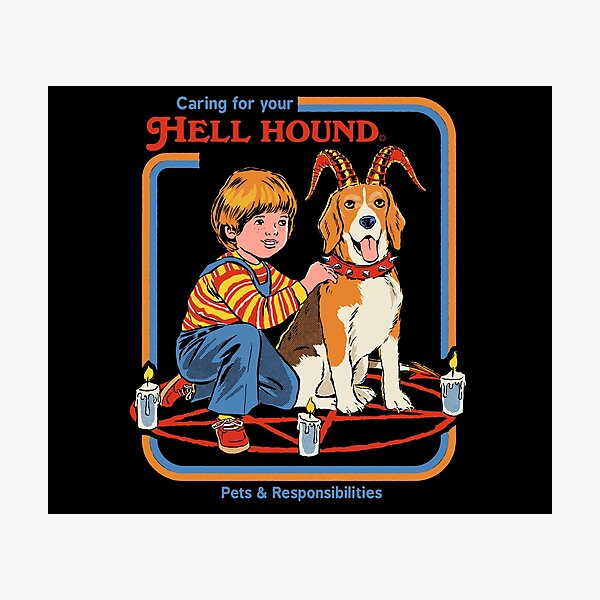 Caring For Your Hell Hound Photographic Print