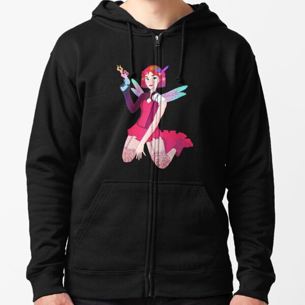 The Dragonfly, protector of the fairy kingdom. Zipped Hoodie