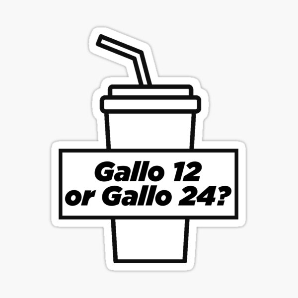 Gallo 12 or Gallo 24 Sticker