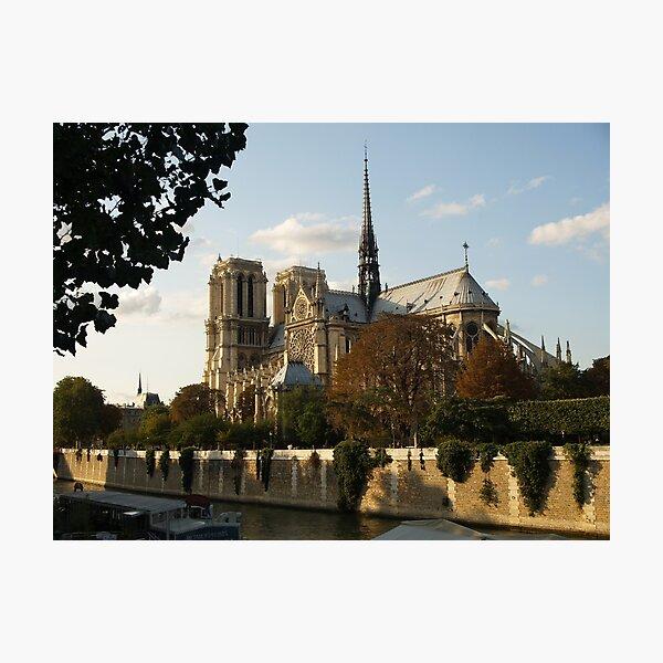 Notre Dam de Paris from the Seine Photographic Print