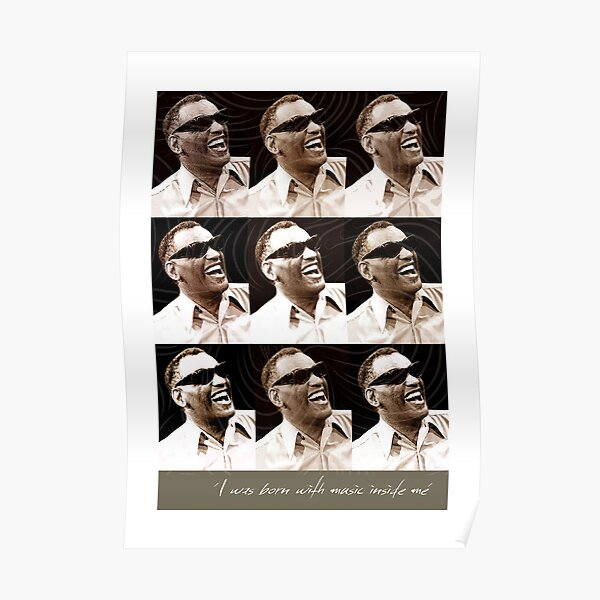 I Was Born with Music Inside Me Ray Charles NEW Music POSTER