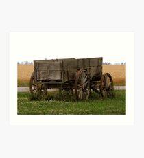Buckboard in Wheat field Art Print