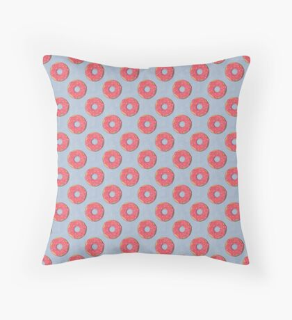 FAST FOOD / Donut - pattern Throw Pillow