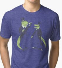 Tea Rex and Velo Sir Raptor Tri-blend T-Shirt