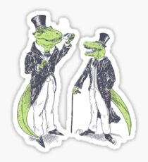 Tea Rex and Velo Sir Raptor Sticker