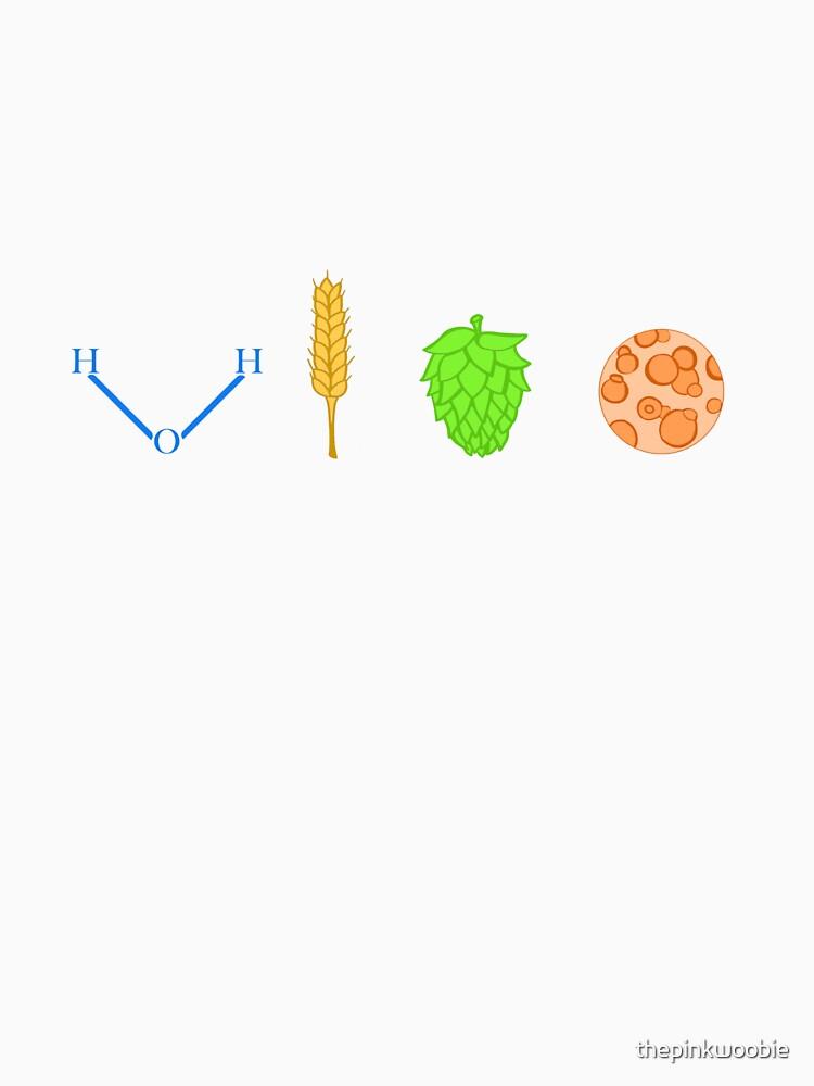 Water, Barley, Hops, Yeast by thepinkwoobie