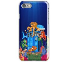 Blue Phone Booth Under the sea iPhone Case/Skin