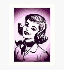 Vintage Purple Girl Art Print