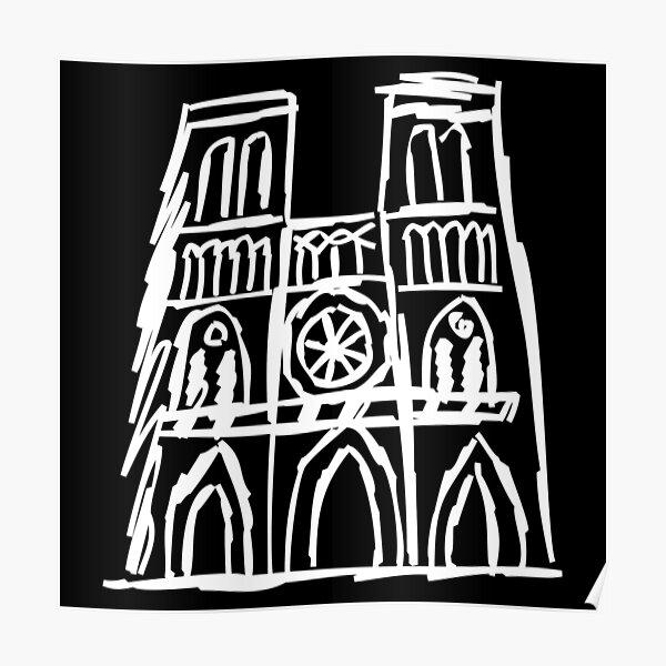 Notre Dame, I Love Notre Dame, Pray For Notre Dame, Paris, Notre Dame Fire Poster