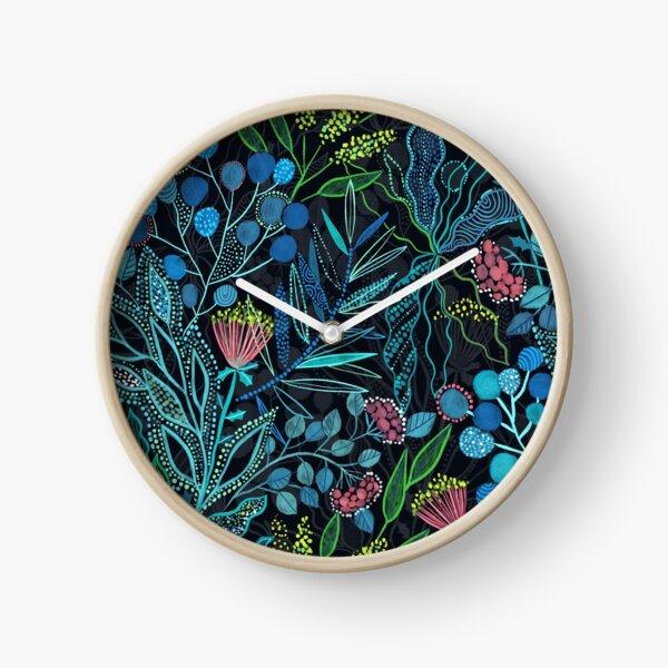 Australian plants and flowers Clock