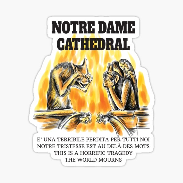 Notre Dame Cathedral. Crying chimeras Sticker