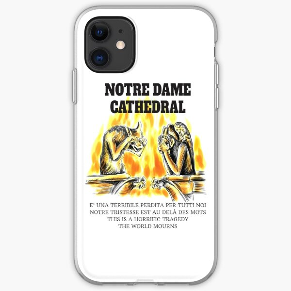 Notre Dame Cathedral. Crying chimeras iPhone Soft Case
