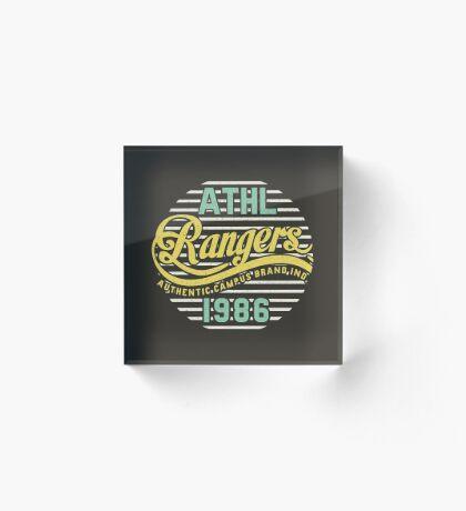 Athletic Rangers 1986 Vintage Acrylic Block