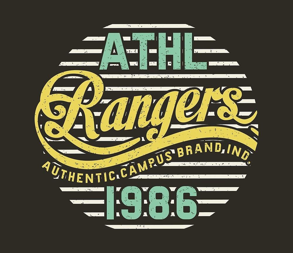 Athletic Rangers 1986 Vintage by Chocodole