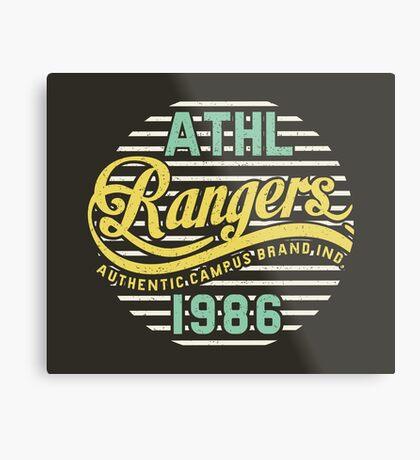 Athletic Rangers 1986 Vintage Metal Print