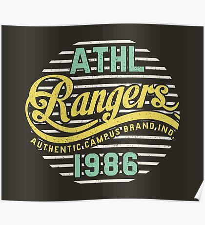 Athletic Rangers 1986 Vintage Poster