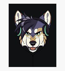 Headphone Wolf Photographic Print