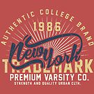 New York Vintage Hand Lettering College Design by Chocodole