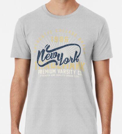 New York Vintage Hand Lettering College Design Premium T-Shirt