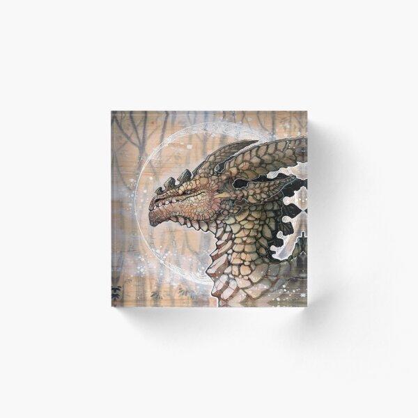 winter dragon Acrylic Block